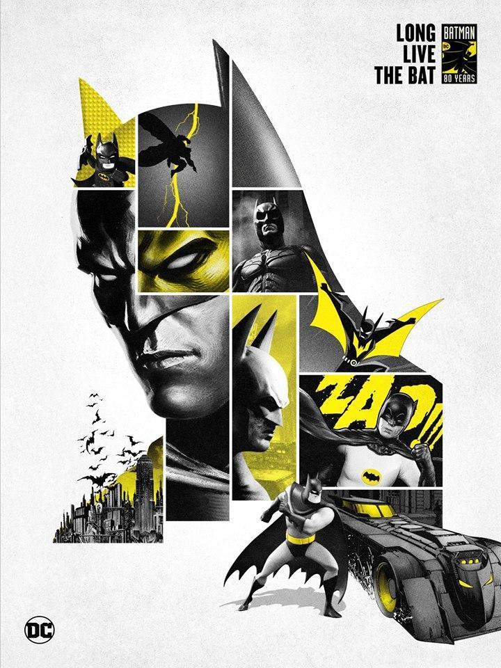 Batcaverna e illustrazioni Batman